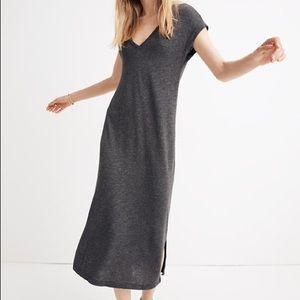Madewell V-Neck Midi Knit Dress